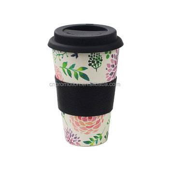 Travel Biodegradable Bamboo Coffee To Go Cup Mug French