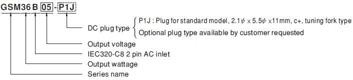 Pack of 2 GSM36B12-P1J Desktop AC Adapters 36W 12V 3A Medical,