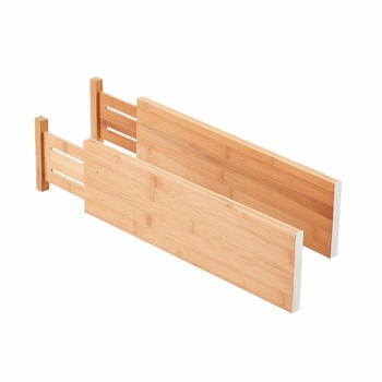 Kitchen Adjule Expendable Drawer Organizers Divider Spring Bamboo Dividers