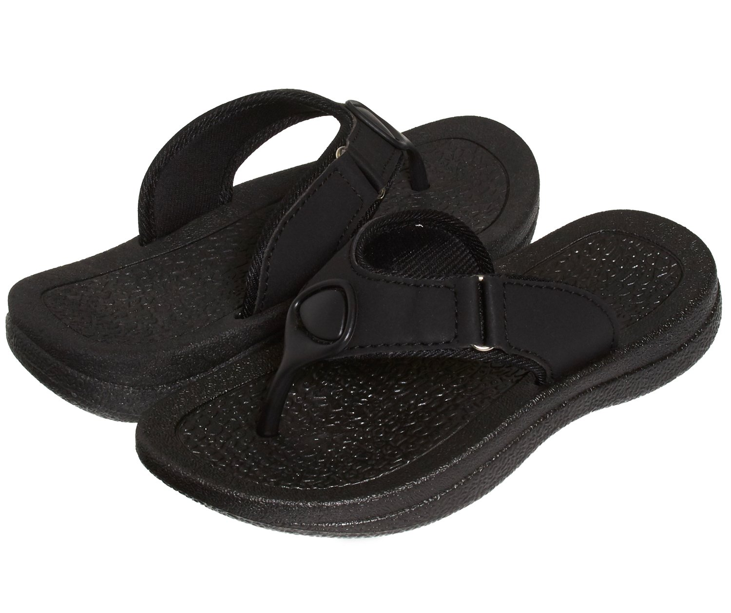 9c796df0d Get Quotations · Skysole Boys Rugged PU Ring Thong Strap Sandals (See More  Colors and Sizes)