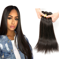 Wholesale 100% brazilian human hair best selling female high quality virgin straight hair weave bundles with closure