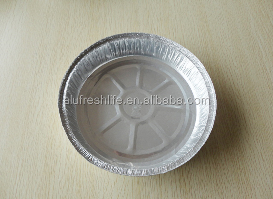 Green and Disposable Aluminum Foil Plate for food
