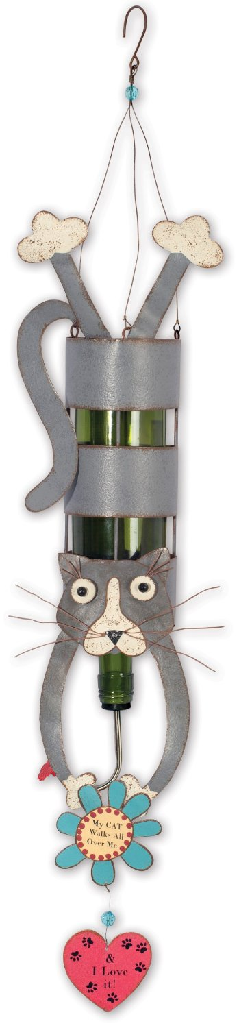 Sunset Vista Design Studios By Using Your Own Bottle Hummingbird Feeder/Plant Rooter, Cat