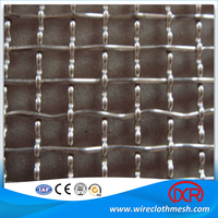 Polished Stainless Steel Weave Crimped Wire Mesh