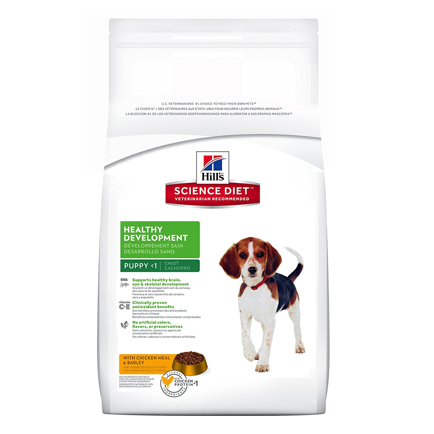 Hill's Science Diet Puppy Food, Healthy Development with Chicken Meal & Barley Dry Dog Food