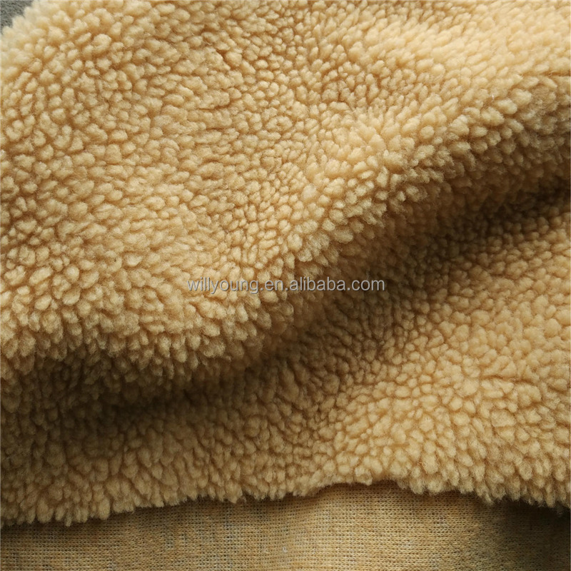 imitation berber fleece 100% poly 300gsm-450 gsm 6mm 7mm width 160cm china factory cheap wholesale for artificial fur