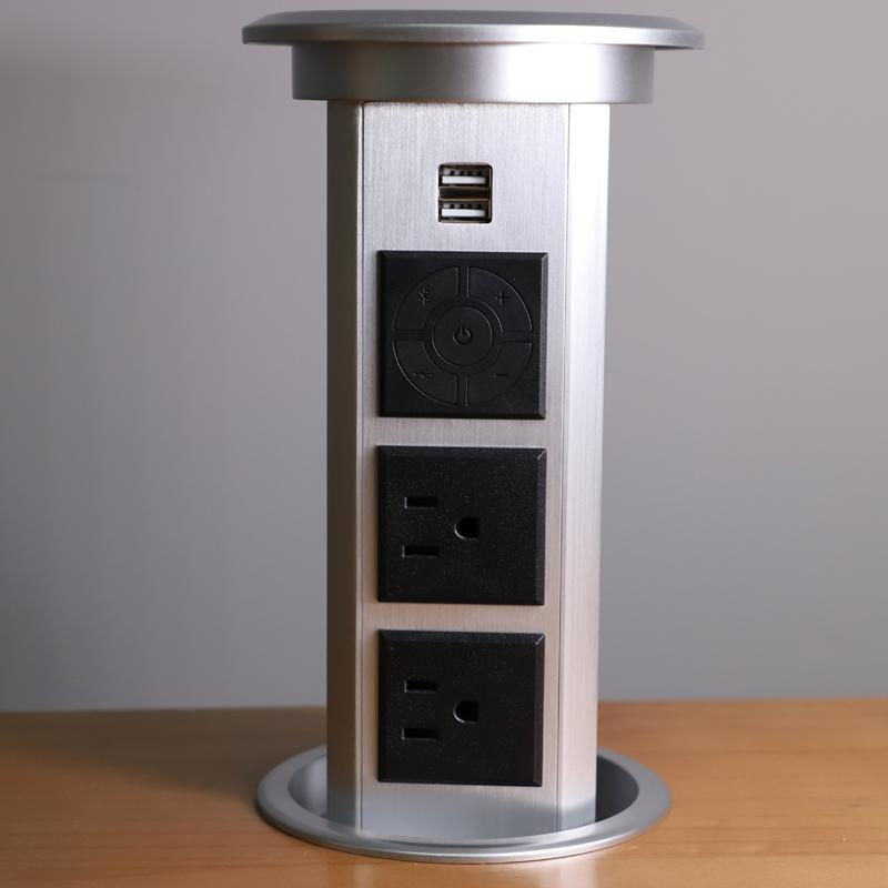 Tabletop मल्टी-समारोह-वाहित करना विद्युत पॉप अप शक्ति कुर्सियां