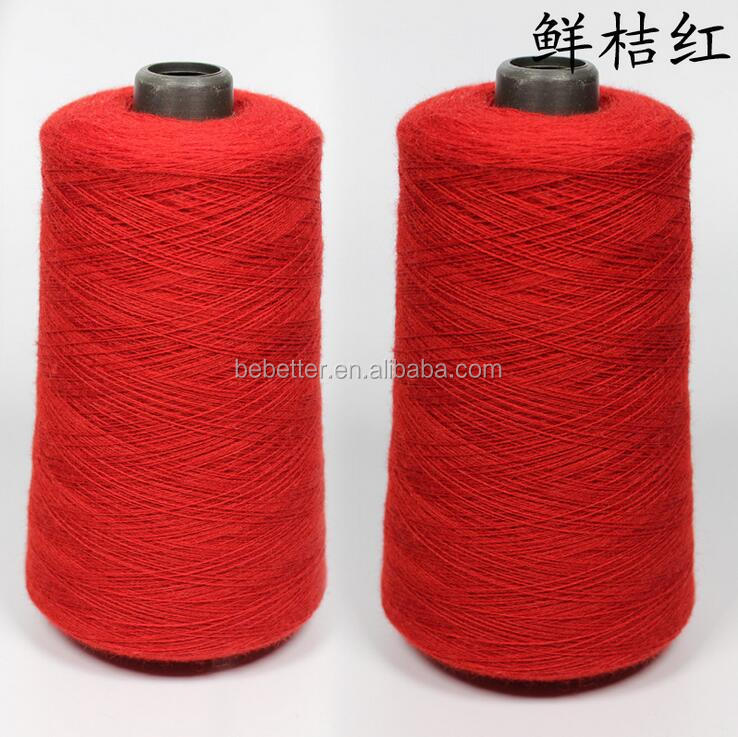 19 Microns Wool Yarn Dyed Knitting Australian Sheep Hair 21 - 23 Micron Merino Wool Tops Quality