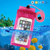 Wholesale universal waterproof pvc mobile phone bag pouch for iphone 7/6, water proof phone case for iphone 7