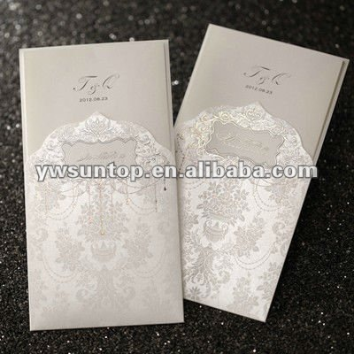 Decoretive Flower Design Arabic Wedding Invitation Cards Models ...