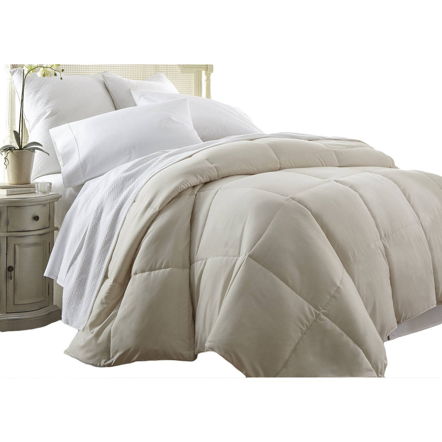 deals shopping on cal alternative down cheap guides line ivory comforter find king