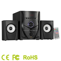Museeq 2 1 channels multimedia PC speaker set with woofer with USB SD FM MIC function with CE RoHS Certificate