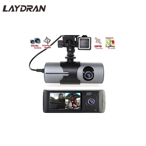 Ebay Hot Model Taxi 2.7 inch G-Sensor GPS Logger Dual Camera Dash Cam With GPS R300 Car DVR
