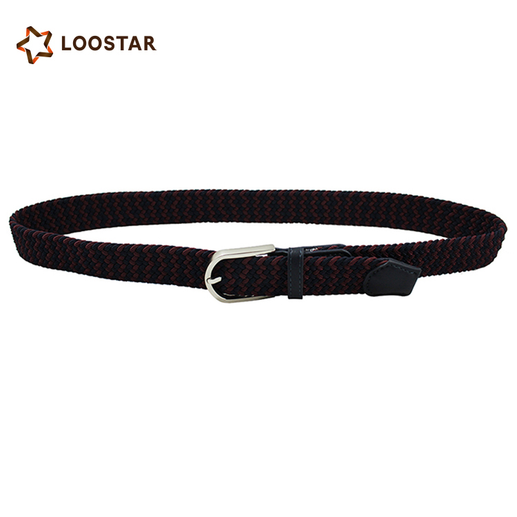 LOOSTAR 2017 New Style Top Quality Custom Knitted Elastic Belt