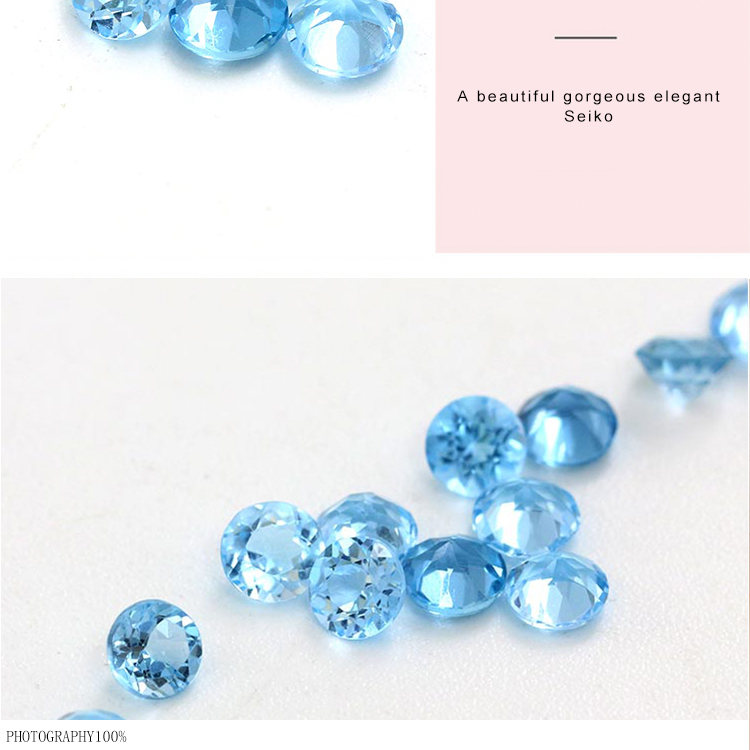 Wholesale london blue 4mm round shape blue topaz