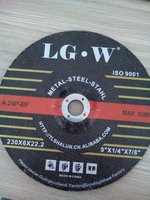 H158 T27-9''inch/230X6.0X22.2mm black grinding wheel for metal, stainless steel India market