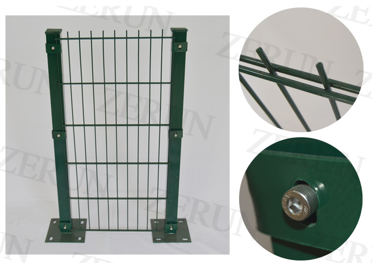 Twin Wire 2d Panel Fencing /double Wire Mesh Fence /galvanized And ...