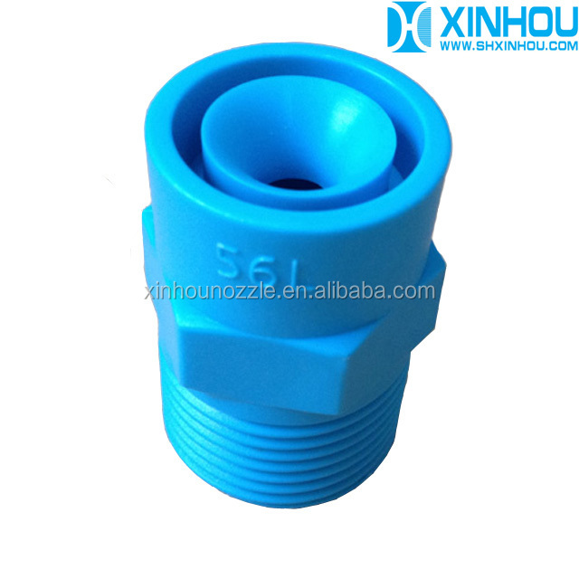 Blue plastic full cone spray nozzle
