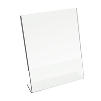 High quality clear a4 acrylic display stand L shape acrylic 8.5x11 sign holder