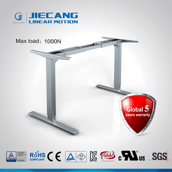 Jiecang Jc35ts Rs2 Low Price Two Sections Leg Computer Desk Electric Lifting Table Frame