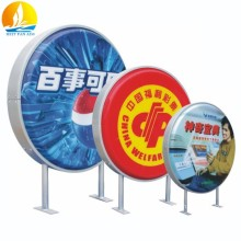 circular light box custom fabrication crystal led light box long durable acrylic led light box
