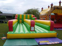 PVC inflatable obstacle course /Twin Lane Bungee Run for Adults & Children