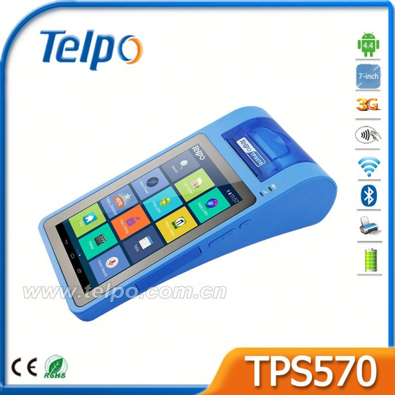 "Telpo TPS570 7"" screen Ticket Issuing Machine pos With Direct Selling Price"