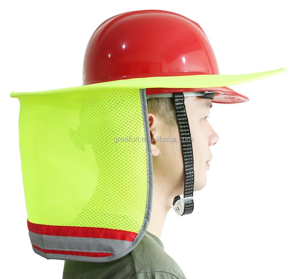 7cdf4777e9f Outdoor Sun Shade Hard Hat Brim Breathable Removable Neck Shield Full Brim  Sunshade for Hard Hats