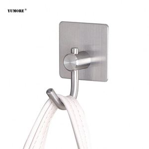 glass adhesive fashion bag foldable stainless iron rolling door hook