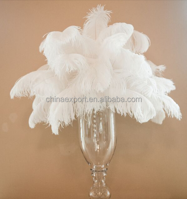 Wholesale Natural Decorative White Ostrich Feathers For Wedding Centerpieces
