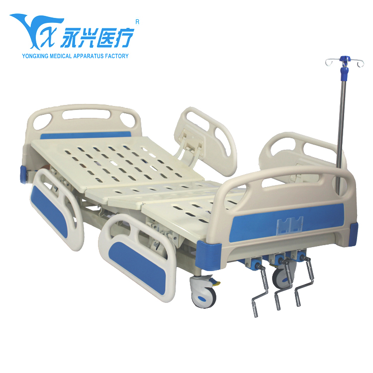 YONGXING cheap price folding elderly care manual rotating medical nursing bed with toilet A04-018