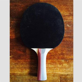 Custom Logo/long Handle/ Pimples Out Rubber/wooden Table Tennis ...