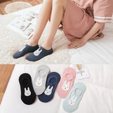 10 шт. = 5 пар, женские весенне-летние носки, хлопковые носки с мультяшными животными, женские носки-тапки с ушками 3-D, носки для милых девушек(Китай)
