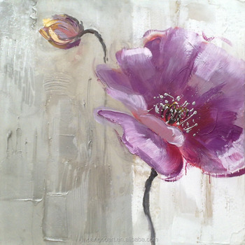 large flower paintings modern canvas art flower painting decorative items for living room & Large Flower PaintingsModern Canvas Art Flower PaintingDecorative ...