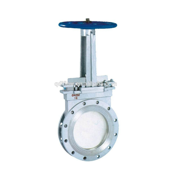 PN16 Cast Steel Metal Seat Manual Knife Type Gate Valve