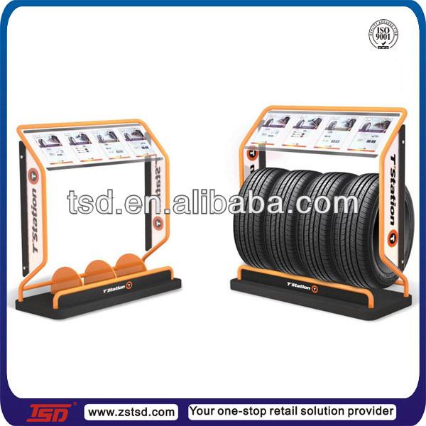 Tsd-m650 Custom Pos Floor Metal Tire Display Rack,Metal ...