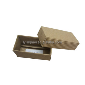 Ribbed Kraft Paper Handmade Box