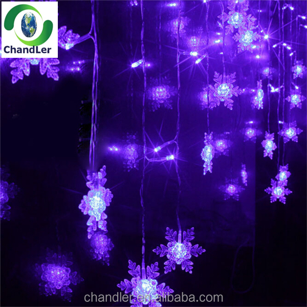 2m Down 1m Led Falling Icicle Lights Window Led Snow Curtain Light ...
