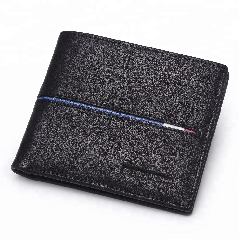 Oem Men Smart Soft Bifold Full Grain Genuine Cow Leather <strong>Wallet</strong>