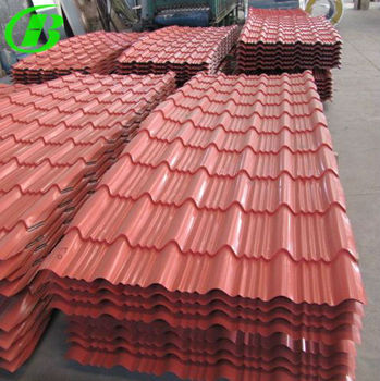New building construction materials color glazed steel for New roofing products