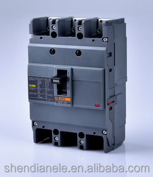 New type 3 phase circuit breaker of EZC 250A,manufacturer in Yueqing China with CE and CCC certification
