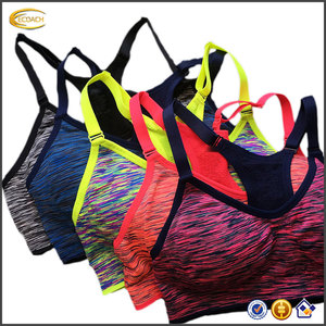 Ecoach high quality super comfort backless cross fitness tank Tops gym running yoga women sports bra