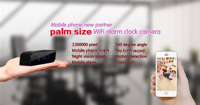 Newest Wifi 1080p Hidden Spy Cam Ip Camera Alarm Clock Mini ...