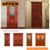 Oppein affordable price modern designs solid teak interior wood door