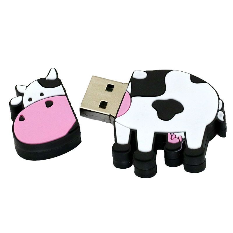 New arrival custom design 2D PVC cow usb flash drive