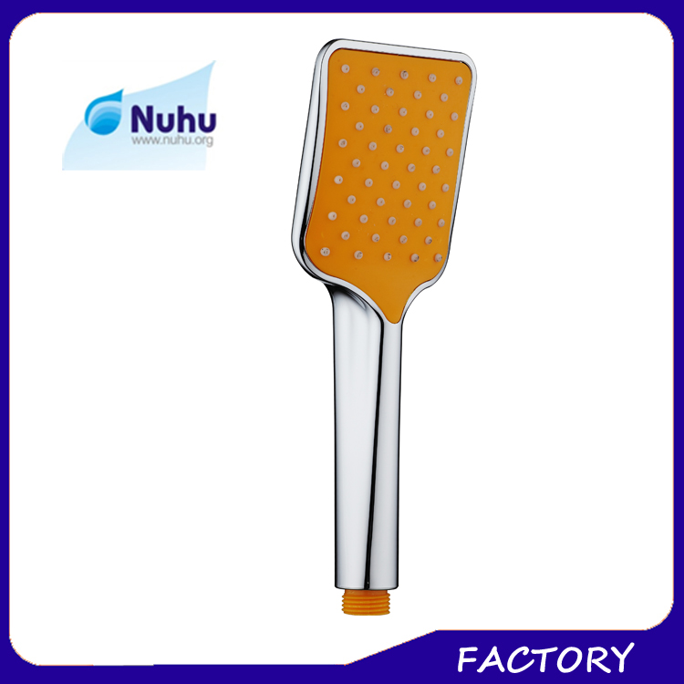 ABS chrome yellow hand shower head