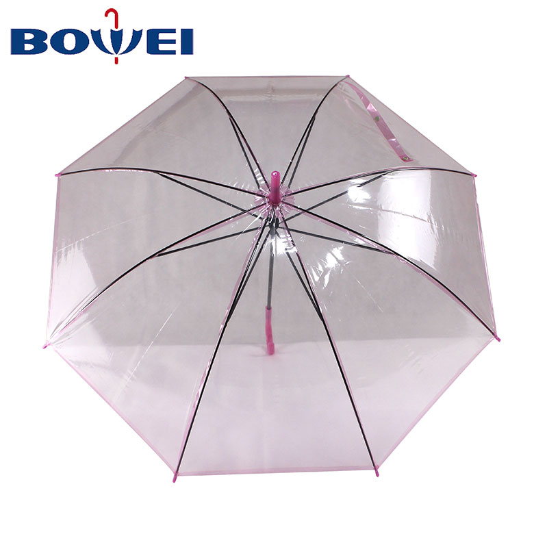 High quality promotional poe umbrellas clear umbrella custom logo