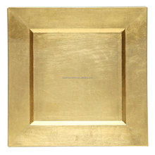 "EaMaSy Party 13 ""x 13"" <span class=keywords><strong>Quadrat</strong></span> Gold Polypropylen <span class=keywords><strong>Ladegerät</strong></span> Platte"