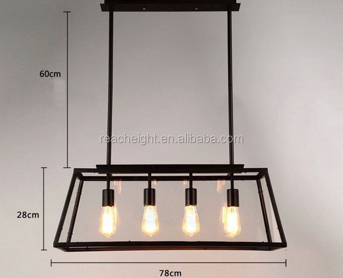 Vintage Pendant Light Industrial Edison Lamp American Style Clear ...