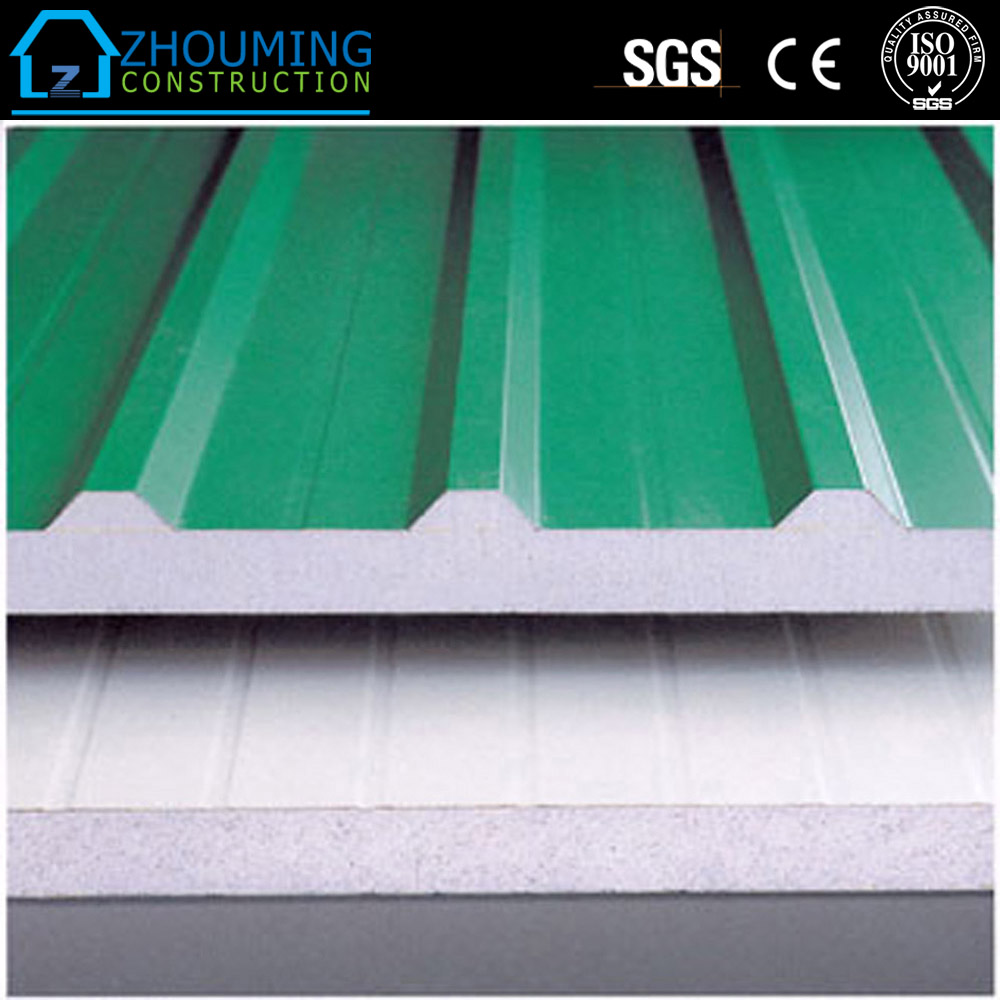 corrugated prefabricated aluminium sandwich wall panel